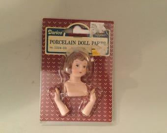 "Vintage Darice  Porcelain Doll Parts 1/2"" No. 1224-23 Angel Head And Hands SKU 082676361555"