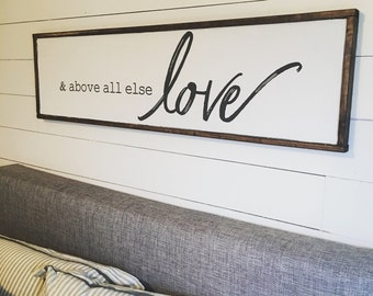 Above all else. Above the bed sign [FREE SHIPPING!]