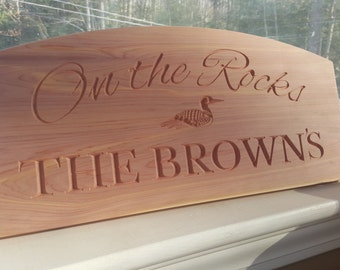 Engraved Custom Home or Camp Signs