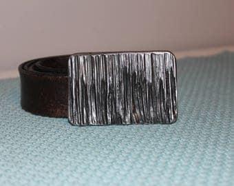 Hand Forged Belt Buckle / Flame Cut Belt Buckle