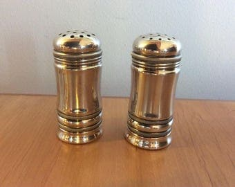 Vintage American Silver Plated Salt And Pepper Shakers