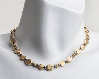 "Classic Vermeil and Hematite LAINE HOADLEY 17.5"" Necklace"