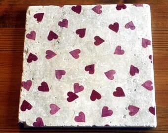 Emma Bridgewater Styled Heart Natura Stone Platter/Table Mat