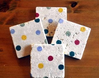 Emma Bridgewater Polka Dot Natural Stone Coaster