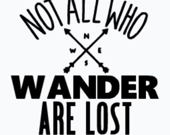 Not all who wander are lost, Decal, Yeti Decal