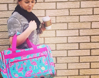 Flamingo weekender bag