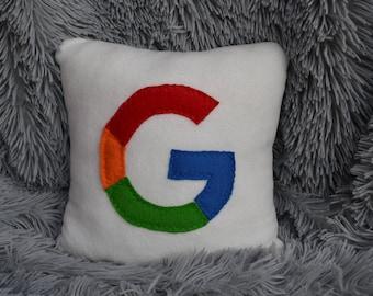 12 x 12 google pillow - handmade pillow - decorative pillow - geekery pillow
