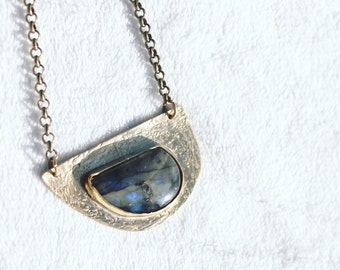 UNEVEN LABRADORITE NECKLACE