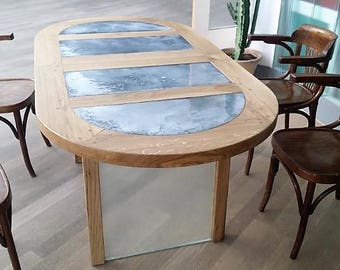 WOOD & GLASS Table II