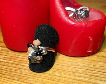 """Black Rose"" ring"
