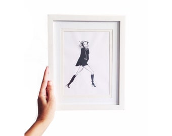 On the Go • Art Print | Fashion Illustration