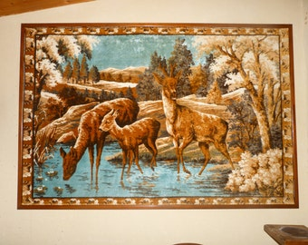 very large tapestry wall framing quality wood