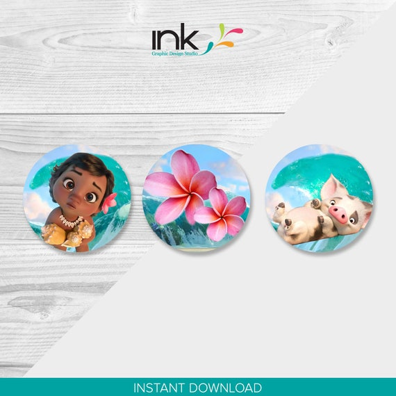 Disney Baby Moana Cupcake Toppers Instant Download