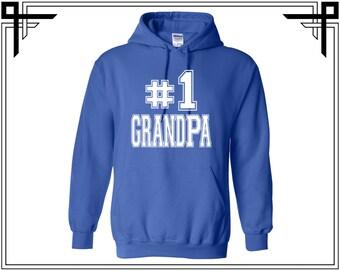 No1 Grandpa Hoodie #1 Grandpa Sweatshirt #1 Grandpa Sweater Grandpa Sweatshirt Grandpa Hoodies Sweatshirt Sweater Hooded Gift For Grandpa