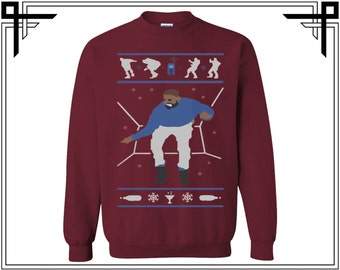 Drake Hotline bling Dance Merry X Mas Unisex Crewneck Sweatshirt Sweat Shirt Sweater Top Gifts For Christmas Ugly Christmas Party Shirt Top