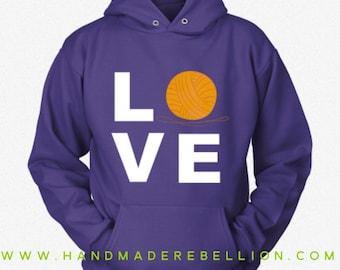 LOVE Knitting - Womens Shirt, Hoodie, Sweatshirt