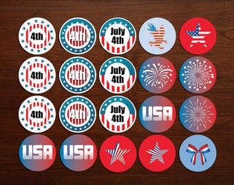 Fourth of July Cupcake Toppers (Patriotic)