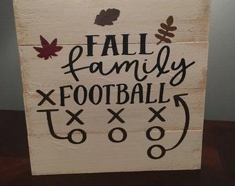 Fall family football sign