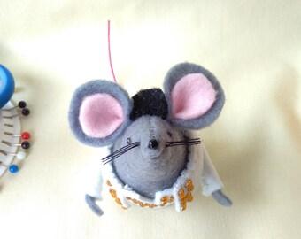 Elvis mouse, Handmade felt mouse, Viva las vegas, gift for any occasion