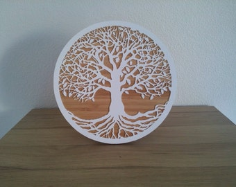 Tree of life - wall decor - bamboo & perspex