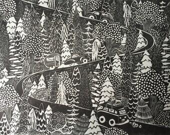 Little trees / 6x8 unframed print