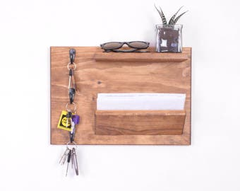 Wall organizer, coat rack, wall coat rack, mail organizer, coat rack shelf, mail holder, wood wall organizer, key hooks, entryway organizer