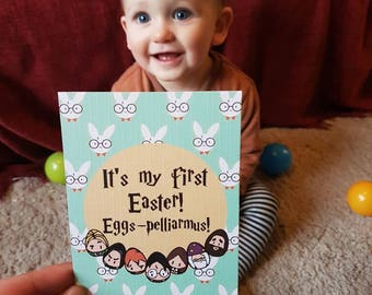 Harry Potter First Easter Milestone Card