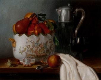 Fine Art Oil Painting Still Life entitled Chinoiserie