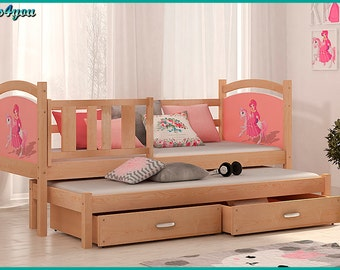 Bunk bed foldaway sliding for children 184x80 cm mattresses VERY GOOD QUALITY