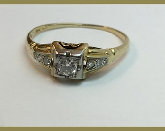 Vintage Diamond Engagement Ring, Right Hand Ring, Anniversary Ring