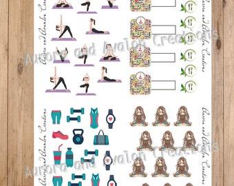 Beautiful You..healthy intentions for planners and scrapbooks