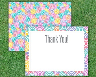 Thank You Card, Empty Card, Ready for Home Printing, Approved Colors & Fonts