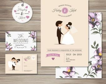 Cute Wedding Invitation Collection