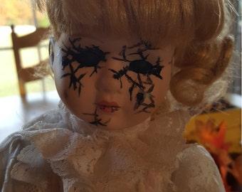 OOAK Altered Porcelain Doll