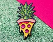 Pineapple Pizza Pin | Enamel Pin Badge | Soft Enamel Badge | Fun Pin Badge Gift for Pizza Lovers