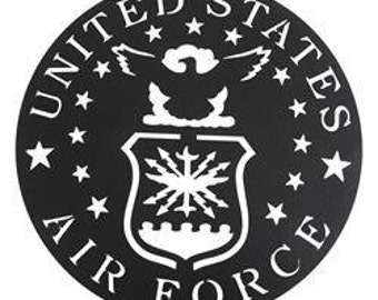 US Air Force Military Sign, Metal Wall Art & Military Signs, Home Decor, Garden Decor