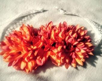 Sunset Flower Tieback Headband