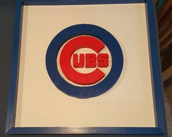 Chicago Cubs Logo Sign