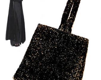 Miss Fisher Handbag, Phryne Fisher Evening Bag, Lady Dectective, Black Sparkle Handbag, Loop Wrist Handbag, 20s Inspired Bag