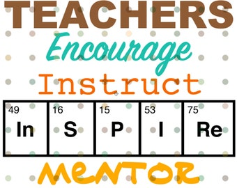 SVG Teachers Inspire - Chemistry - Science - Silhouette Cameo-  Cricut - Design File - Cut File