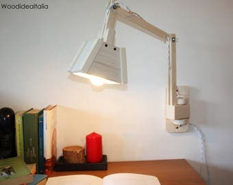 rotating and swivelling Wall lamp wood 2