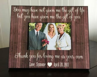 Step mom or step dad picture frame gift // wedding picture frame gift for stepmother // mothers day frame / stepmom or stepdad picture frame