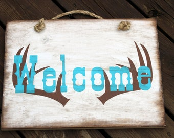 Welcome - deer antlers