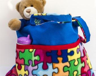 SALE --Diaperbag-Babybag-Autism Diaperbag-Tote Diaperbag-Extra Large Diaperbag