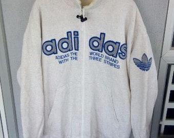 Rare vintage adidas big logo n spell out snow type hip hop