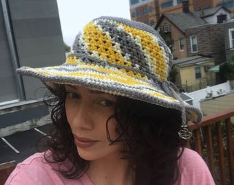 Sun hat / Handmade sun hat / Crochet sun hat / Beach hat / Spring and Summer hat / Women hat
