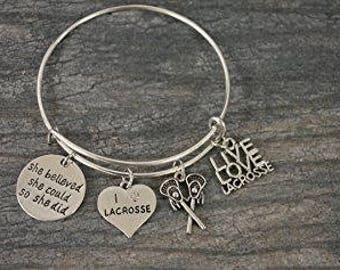 Lacrosse Gift -Lacrosse Bracelet –Lacrosse Gift - Perfect for Lacrosse Players, Lacrosse Coaches & Team Gifts
