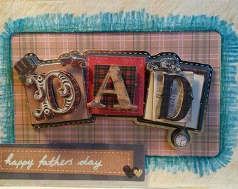 Handmade Fathers Day Card - Vintage