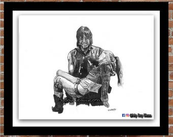 Daryl Dixon Holding Beth Portrait