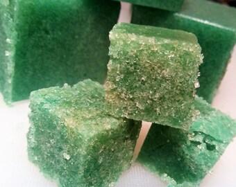 Wild Jade sugar scrub cubes